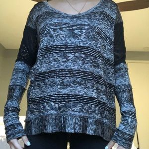 high low cut out sweater